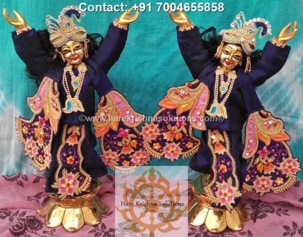 Gaura Nitai 12 inches Blue Dress (17)