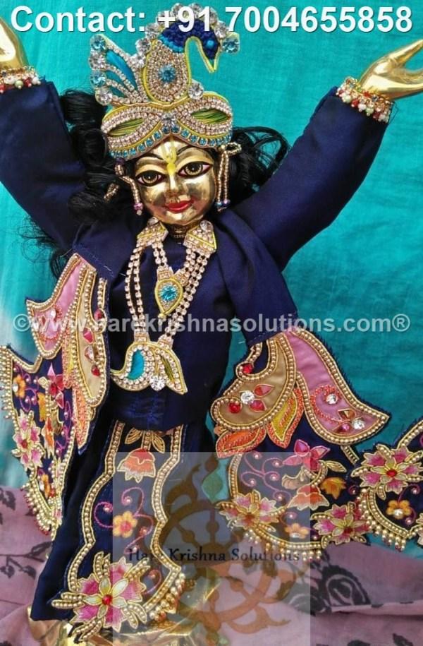Gaura Nitai 12 inches Blue Dress (20)