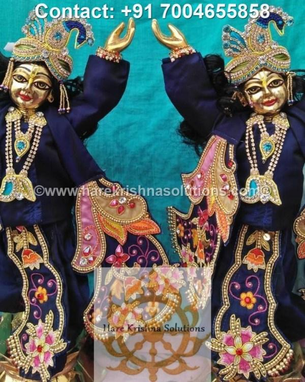 Gaura Nitai 12 inches Blue Dress (25)