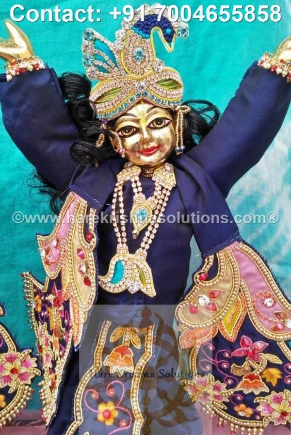 Gaura Nitai 12 inches Blue Dress (29)