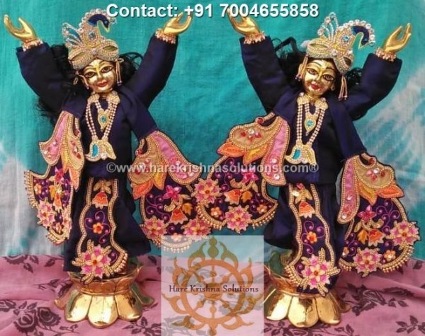 Gaura Nitai 12 inches Blue Dress (8)