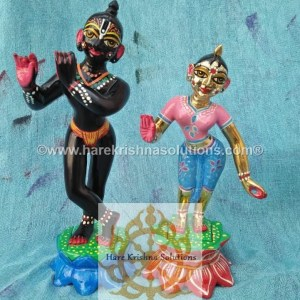 Radha Krishna 8 inches Light Pink Blue (2)