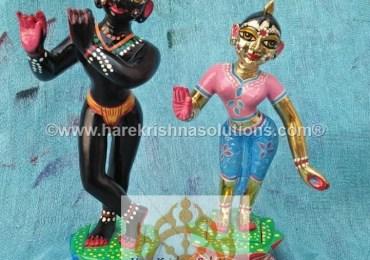 Radha Krishna 8 inches Light Pink Blue (2)