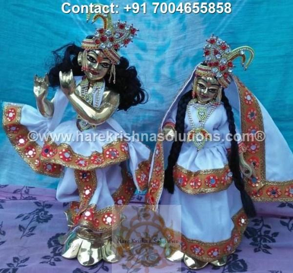 RadhaKrishna 12 inches White Dress (2)