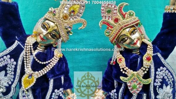 Gaura Nitai 12 inches Dark Blue -White Flowers 2