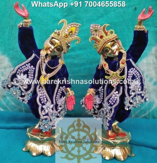 Gaura Nitai 12 inches Dark Blue -White Flowers 3