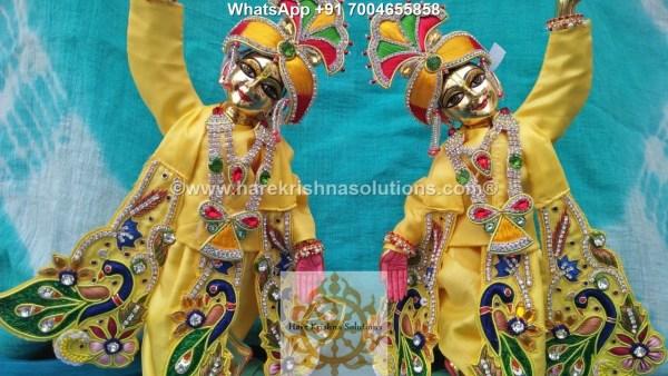 Gaura Nitai 12 inches Yellow 8