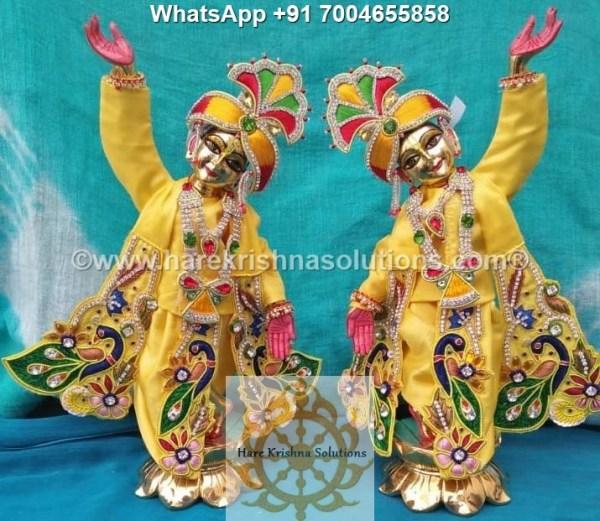 Gaura Nitai 12 inches Yellow 9