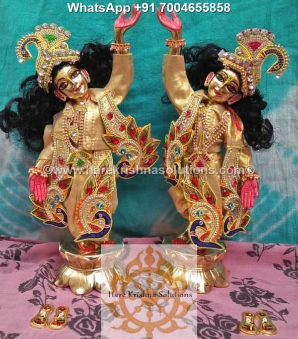 Gaura Nitai 12 inches Golden Dress 16