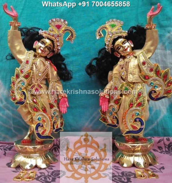 Gaura Nitai 12 inches Golden Dress 17