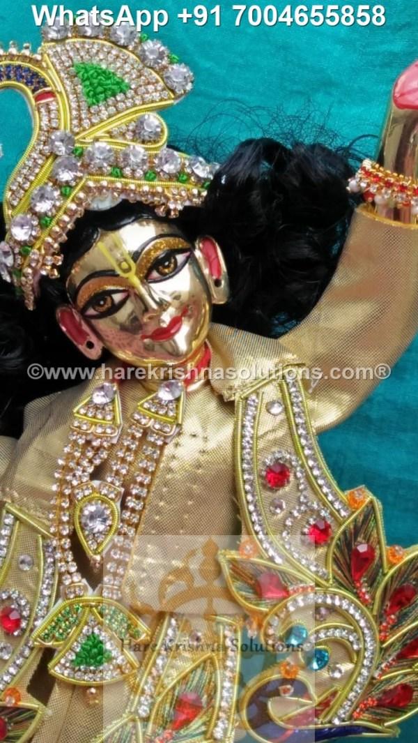 Gaura Nitai 12 inches Golden Dress 18