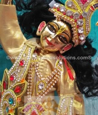 Gaura Nitai 12 inches Golden Dress 3