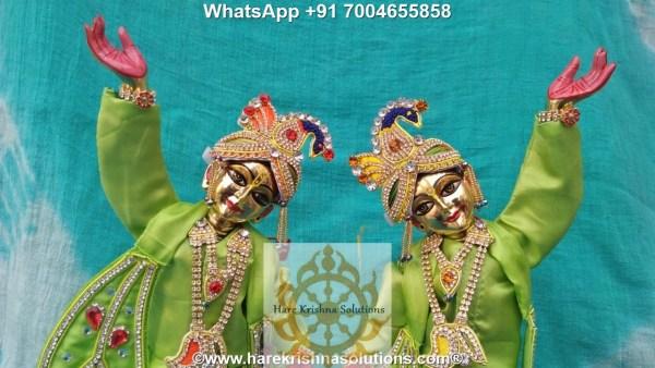 Gaura Nitai 12 inches-Green (3)