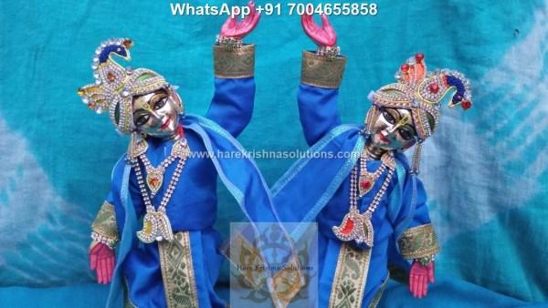 Gaura Nitai 12 inches Light Blue 2