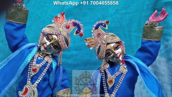 Gaura Nitai 12 inches Light Blue 3