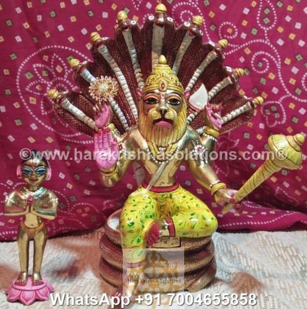 Prahalad Narasimha Dev 10 inches-Painted 9