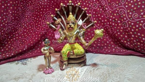 Prahalad Narasimha Dev 10in-Painted 3