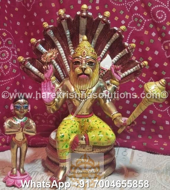 Prahalad Narasimha Dev 10 inches-Painted 6