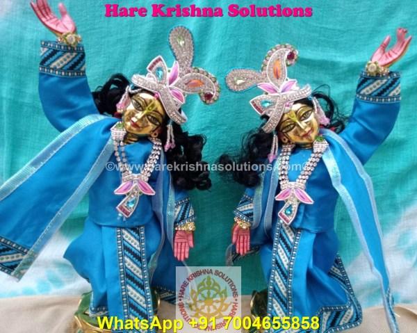 Gaura Nitai 12 SPL inches Light Blue Dress (12)