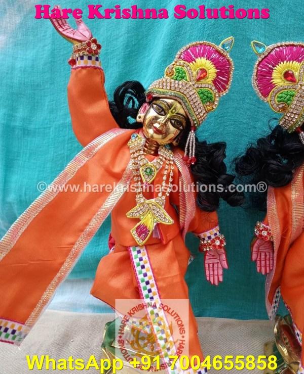 Gaura Nitai 12 SPL inches Orange Dress (2)