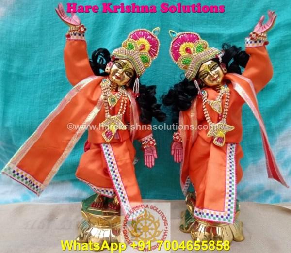 Gaura Nitai 12 SPL inches Orange Dress (4)