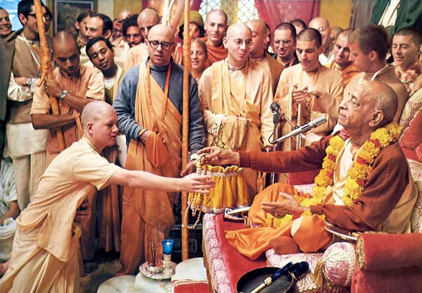 Srila Prabhupada initiation ceremony
