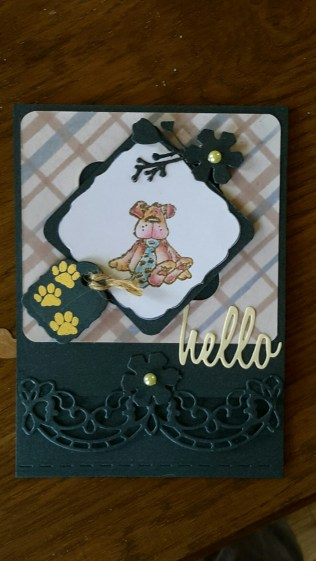 Penny Black Stamp, Sue Wilson Portuguese Collection Edge Die, Ranger Hello