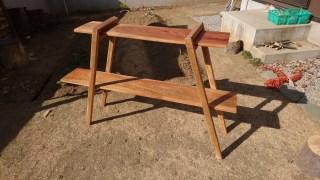 キャンプ棚ウッドラックの作り方