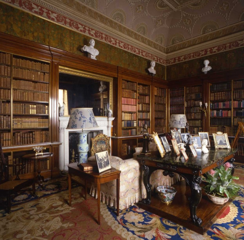 Victorian Mansion Library Study