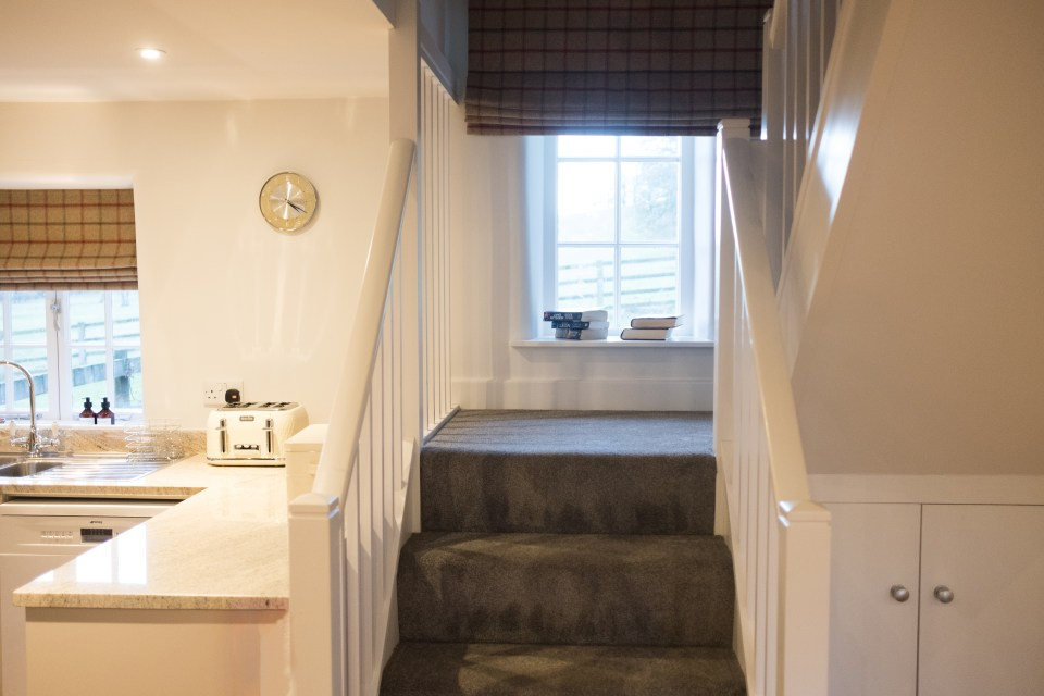 Open plan staircase at Carr Cottage