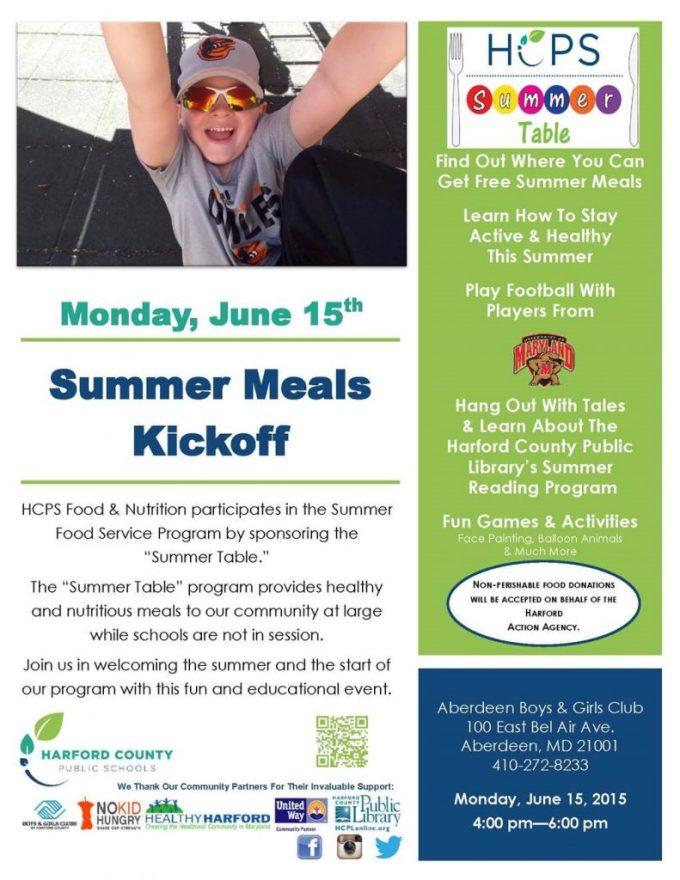 Summer Meals Kickoff Event