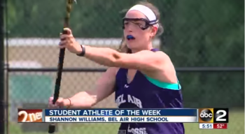 WMAR's Athlete of the Week, Shannon Williams of Bel Air High School