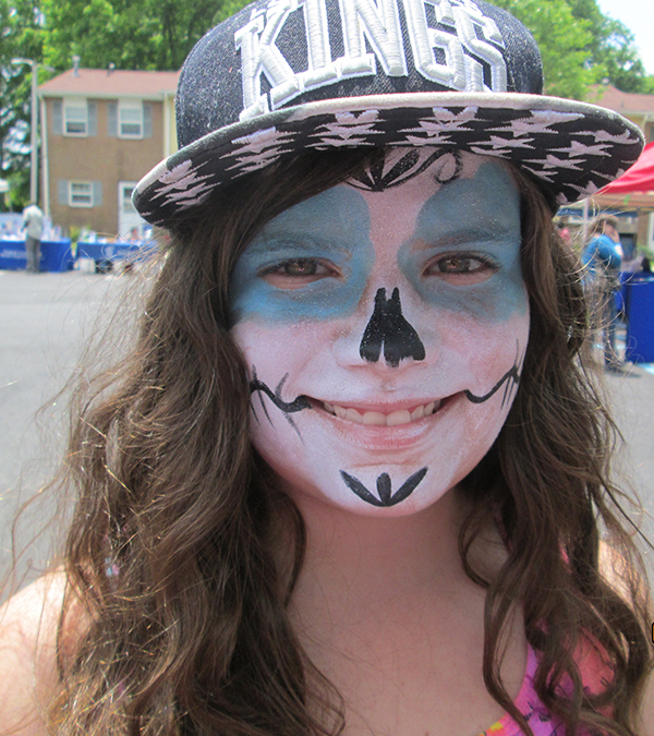 Free face painting was one of the attractions at the HDGHA Summer Jam.