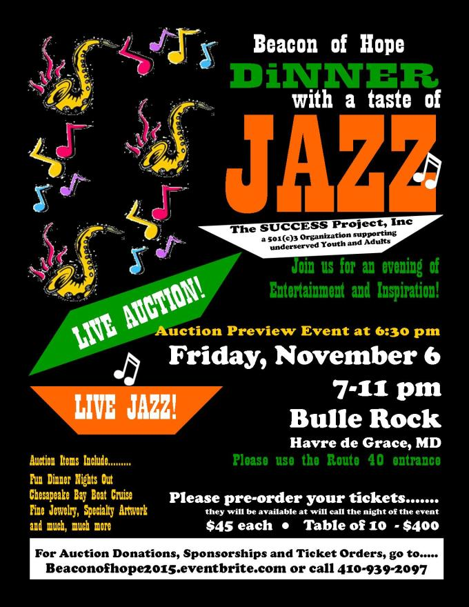 """Live Jazz Music at Fourth Annual """"Beacon of Hope"""" Gala"""