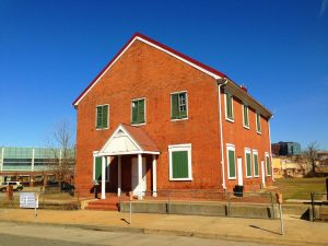 Participants on the Doors Open Baltimore tour October 24 can see the inside of the Quaker Meeting House, the oldest surviving house of worship in Baltimore that features a trapdoor, crawlspace, and hidden room.