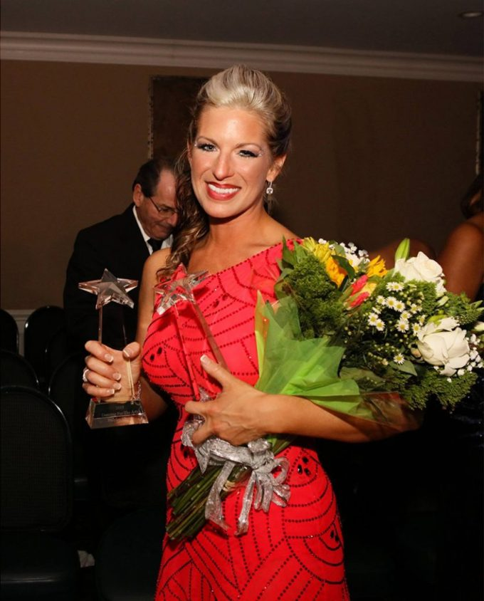 Landri Taylor Hardiek received the Judges' Choice and People's Choice Awards in the 2015 Dancing for the Arts amateur ballroom dancing competition.