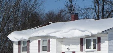 Snow damage roof