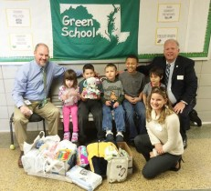 Donations from Hickory Elementary School Students to Harford County's Project Healthy Delivery