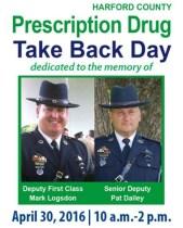 Harford's Citizens Urged to Dispose of Leftover Medications on April 30 National Prescription Drug Take-Back Day