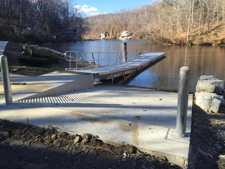 Broad Creek Boat Ramp in Darlington, Md., now features ADA accessibility with car and trailer parking. Accessibility was only part of the $409,205 improvement project, recently completed by Dissen & Juhn Company, Stevensville.
