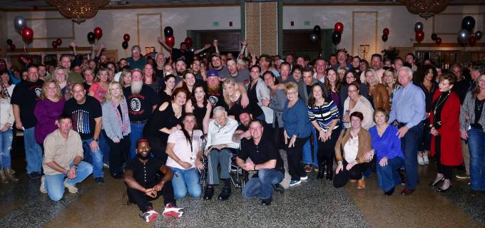 Over 400 people attended to show their love and support for local business owner, Ben Hayes and the Michael J. Fox Foundation for Parkinson's Research