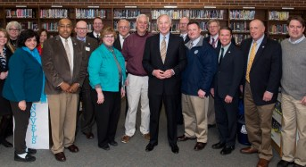 Mayor Martin toured Havre de Grace Middle School with Comptroller Franchot, County Executive Barry Glassman and other government and school officials