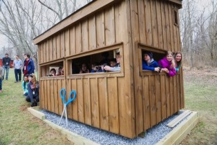 Harford Glen Environmental Center Celebrates New Bird Hide