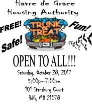 "One of Harford County's Safest Communities Invites Public to ""Trunk or Treat"""