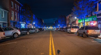 CITY OF HAVRE DE GRACE LIGHTS DOWNTOWN DISTRICT BLUE IN HONOR OF FALLEN BALTIMORE CITY POLICE DETECTIVE SEAN SUITER