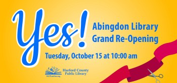 Abingdon Library Reopens October 15