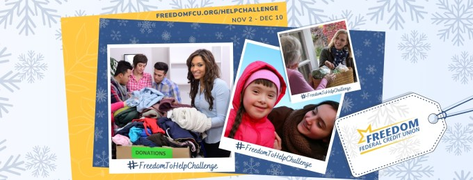 FREEDOM FEDERAL CREDIT UNION LAUNCHES THIRD ANNUAL #FREEDOMTOHELPCHALLENGE