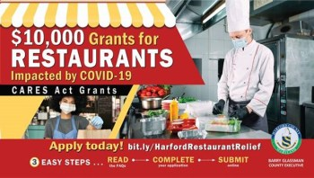 Harford County Offering $10,000 Grants to Restaurants for COVID-19 Relief