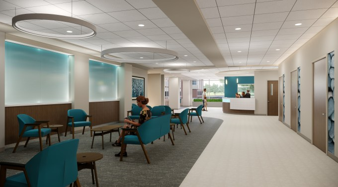 <br><br><br><strong>ED Waiting Area: </strong>The rendering shows the waiting area in the full-service Emergency Department at University of Maryland Upper Chesapeake Medical Center – Aberdeen. The ED will be more than twice the square footage as the one currently at UM Harford Memorial Hospital. (Courtesy of Erdman)