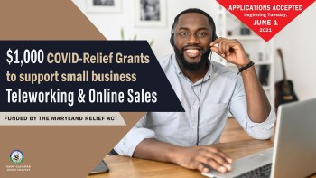 Harford to Administer $1,000 COVID-Relief Grants for Small Businesses to Support Teleworking, Online Sales